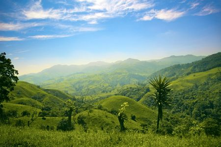 Hills and mountains in Costa Rica photo