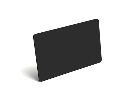 Isolated empty plastic card over the white background.