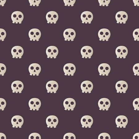 halloween pattern: Seamless halloween pattern illustration with funny skulls.