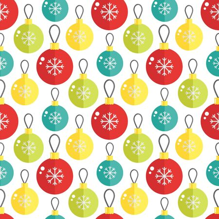 christmass: Seamless pattern with christmass ball. Vector illustration. Great for cards and wrapping paper.