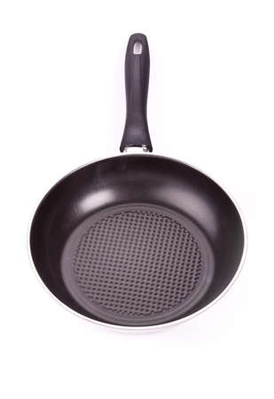 Color frying pan isolated on white background Stock Photo - 17940049
