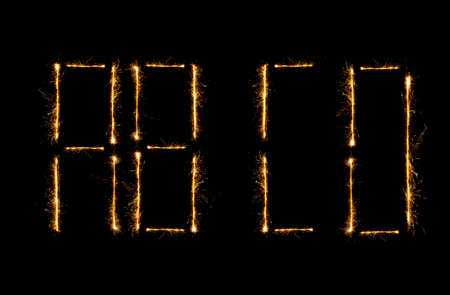 christcross: Modern Shiny alphabet isolated on black. (see other letters in my portfolio)