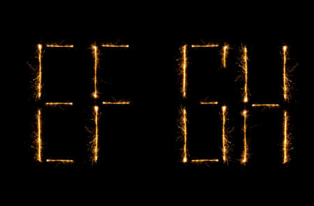 christcross: Modern Shiny alphabet isolated on black   see other letters in my portfolio  Stock Photo
