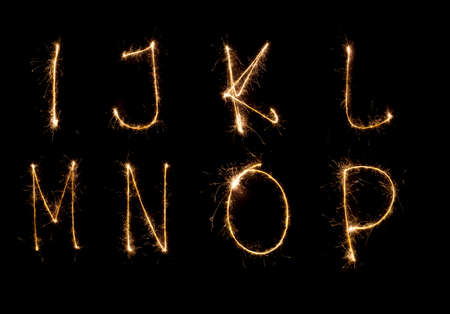 Shiny alphabet isolated on black   see other letters in my portfolio