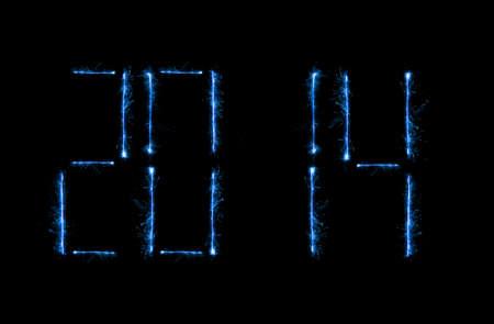 magick: New editable shiny blue magick 2014 modern time clock