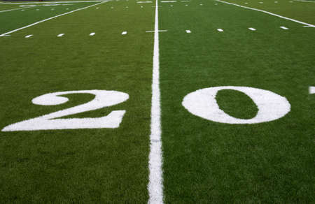 20 Yard LIne on an American Football Field photo
