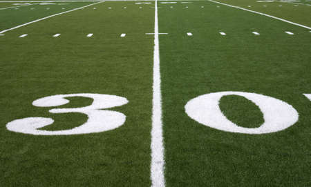 to the line: Football Field 30 Yard Line