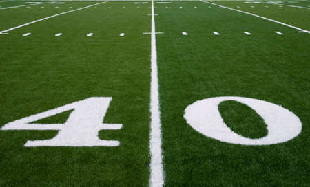 40 yard line on an american football field photo
