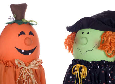 apparently: Two Halloween characters apparently discussing the upcoming holiday