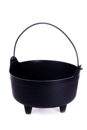 Halloween Black Witchs Cauldron on a White Background