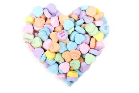 Un coraz�n de San Valent�n de candy multicolor Foto de archivo - 8671871