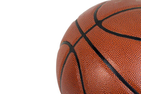Close up image of a basketball on a white background photo
