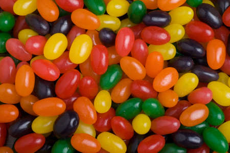 Assorted, multi colored jelly beans for Easter Stock Photo - 9166578