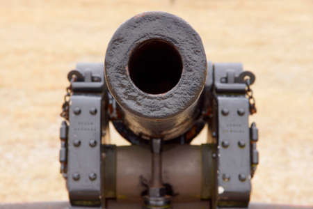 Looking down the barrel of a civil war cannon Stock Photo