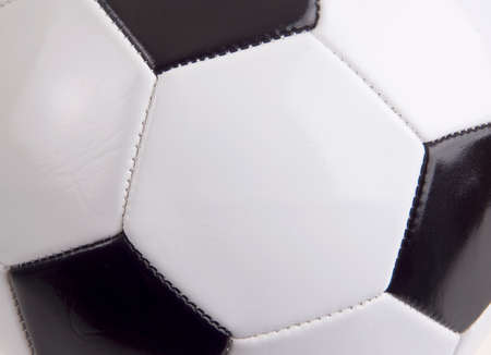 Close up background image of a soccer ball