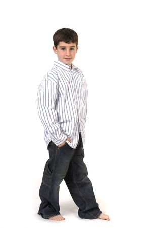 cousin: Young boy in studio Stock Photo