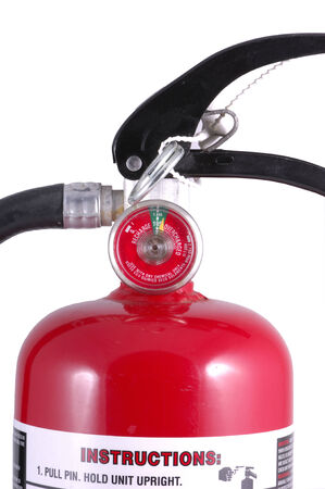 smother: Fire extinguisher with meter and levers