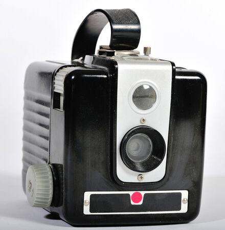 viewfinder vintage: A vintage film camera  Stock Photo