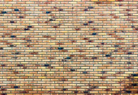 several: Brick wall as part of house with several different colors