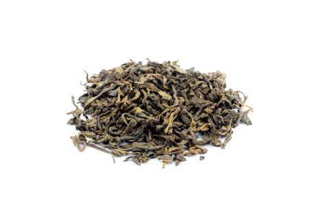 pu: Pile of loose tea Pu Erh isolated on white background