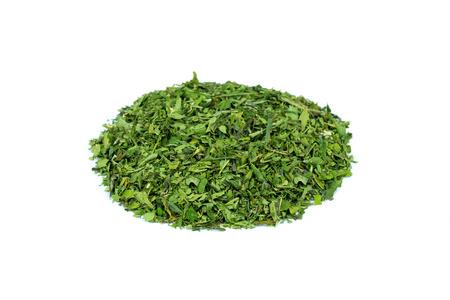 tea crop: Heap of green tea hemp Stock Photo