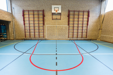 European gym class for school sports no people