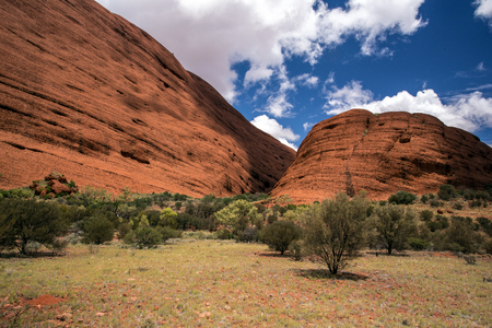 kata: A moutain rock formation in Australia called Kata Tjuta