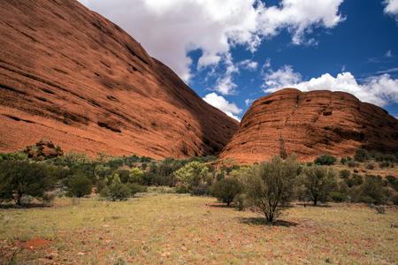 tjuta: A moutain rock formation in Australia called Kata Tjuta