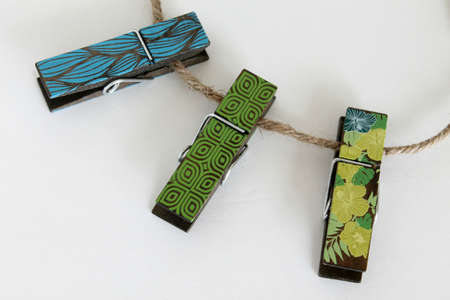 clothespins: clothes pins Stock Photo