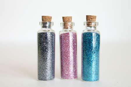 glitter: bottles of glitter
