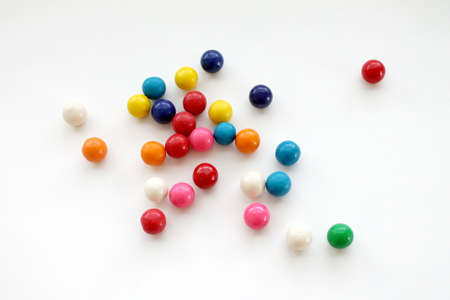 gumballs: colorful gumballs on a white background isolated