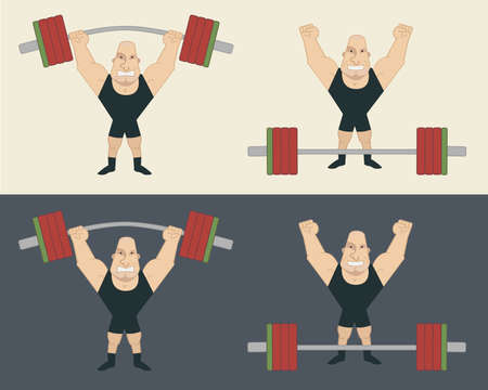 Sportsman lifting heavy barbell. Athlete standing with happy face after workout