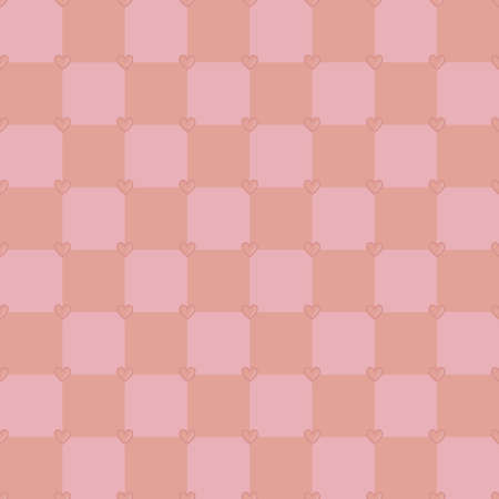 skintone: Neutral pink colors seamless vector pattern with tiny hearts Illustration