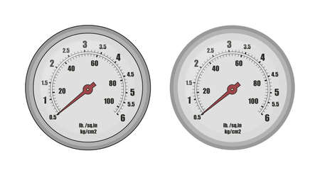 pressure gauge: Pressure gauge bar icon. Clip art vector illustration isolated on white Illustration