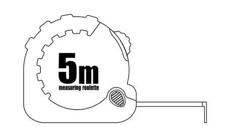 clip art: Misurare icona roulette. Curve di livello. Illustrazione di clip art illustrazione isolato su bianco Vettoriali
