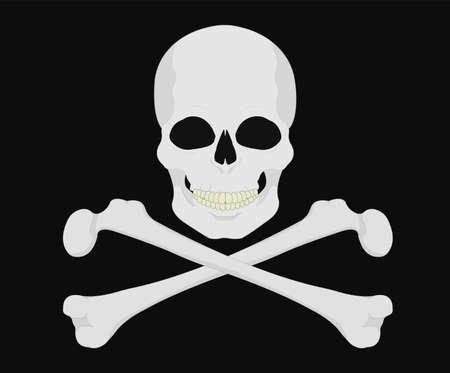 crossbones: Skull with crossbones.