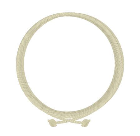 ラウンド ロープ ノード フレーム。カラー ベクター クリップ アート イラスト白で隔離