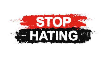 graffiti: Deja de odiar pintura, grunge, la protesta, la tolerancia signo graffiti. Vector
