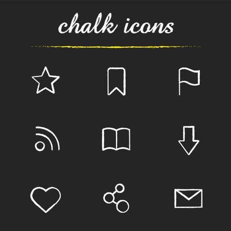 web browser: Web browser chalk icons set.