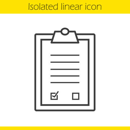 signed: Agreement linear icon. Signed official document. Business paper with signature thin line illustration. Contract contour symbol. Vector isolated outline drawing