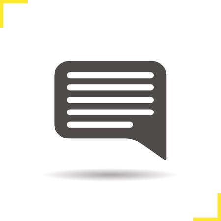 chat box: Chat bubble icon. Drop shadow dialog silhouette symbol. Speech bubble. Communication. Chat box. Vector isolated illustration