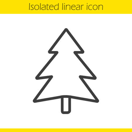 coniferous tree: Fir tree linear icon. Forest. Coniferous tree. Spruce thin line illustration. Pine contour symbol. Vector isolated outline drawing