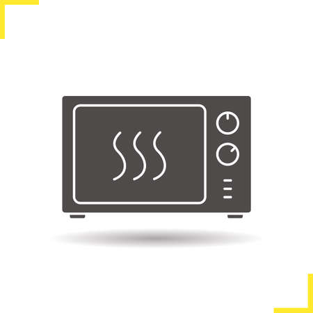 microwave stove: Microwave oven icon. Drop shadow silhouette symbol. Microwave stove. Vector isolated illustration