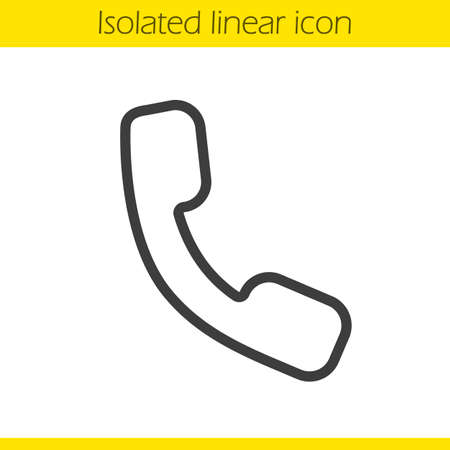 phone receiver: Phone linear icon. Telephone thin line illustration. Phone receiver contour symbol. Vector isolated outline drawing