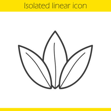 Loose tea leaves linear icon. Thin line illustration. Contour symbol. Vector isolated outline drawing