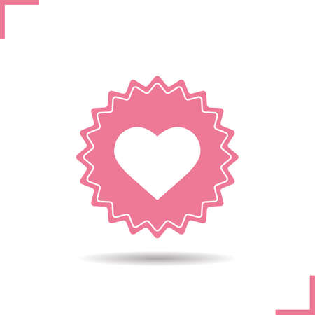 sex shop: Love sign color icon. Sex shop banner. Heart vector isolated illustration Illustration
