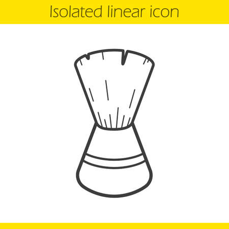 shaving brush: Shaving brush linear icon. Thin line illustration. Contour symbol. Vector isolated outline drawing Illustration