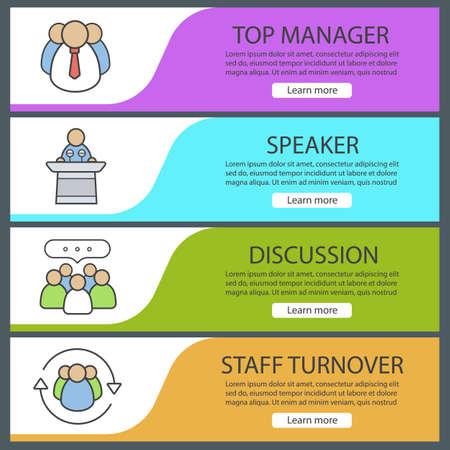 Business banner templates set easy to edit top manager conference business banner templates set easy to edit top manager conference speaker teamwork wajeb