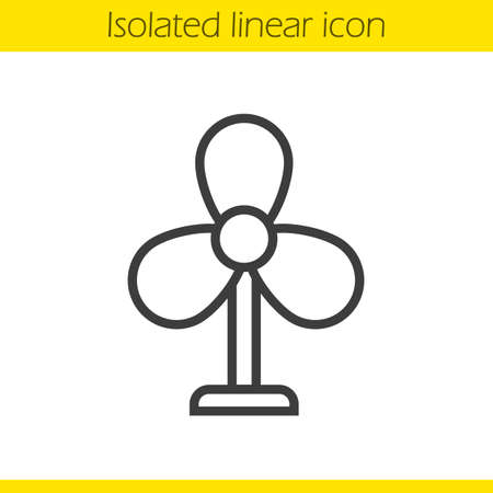 Fan linear icon. Thin line illustration. Ventilator contour symbol. Vector isolated outline drawing