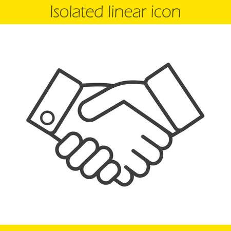 Handshake Clipart Skizze Von Geschäftsleuten Händeschütteln Zu ...
